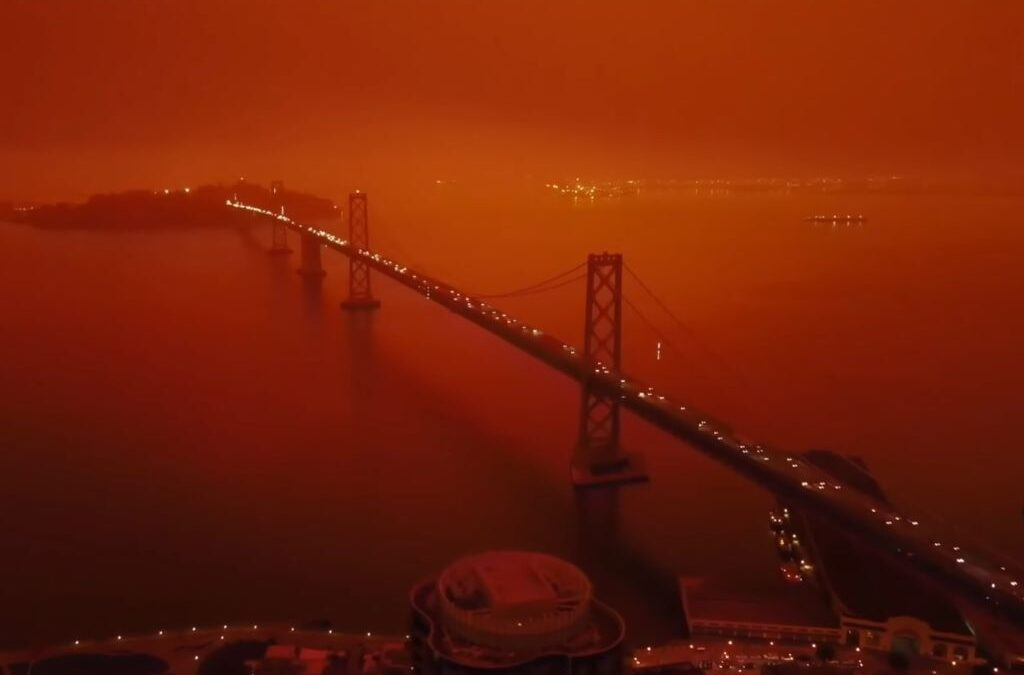 Somebody took drone footage from the Bay Area fires and set it to Blade Runner 2049