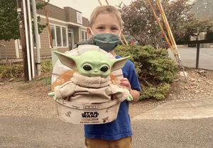 Young Star Wars fan sends Baby Yoda doll to firefighters to keep them company