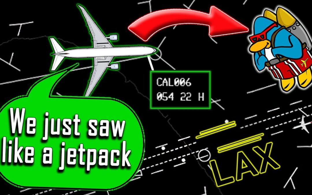'Person in jetpack' spotted flying again near LA airport