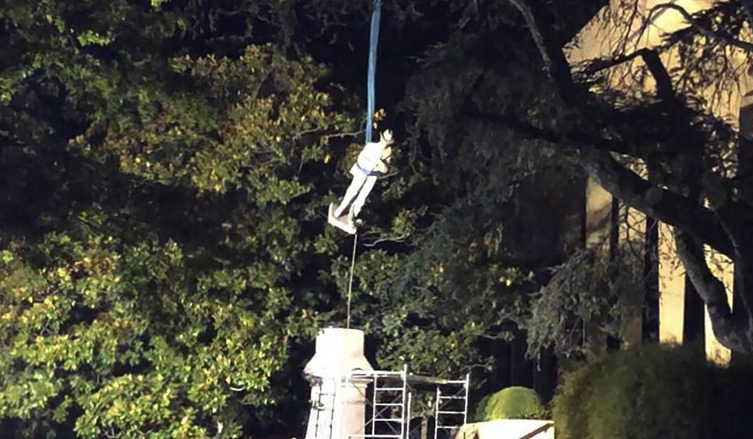 Confederate monument removed from Alabama courthouse