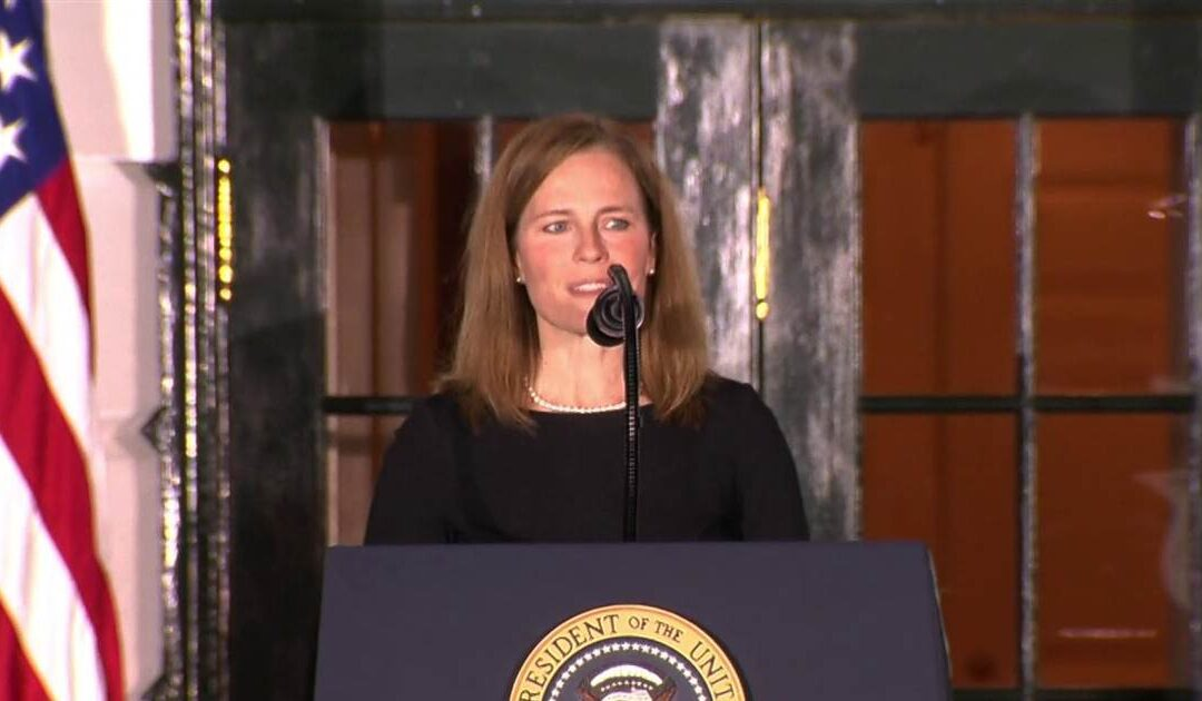 Barrett says 'I love the constitution' in Supreme Court confirmation speech