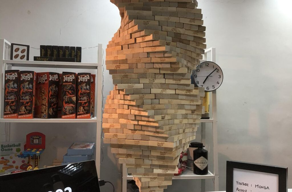 That Jenga guy stacked 1002 pieces on a single free-standing vertical piece
