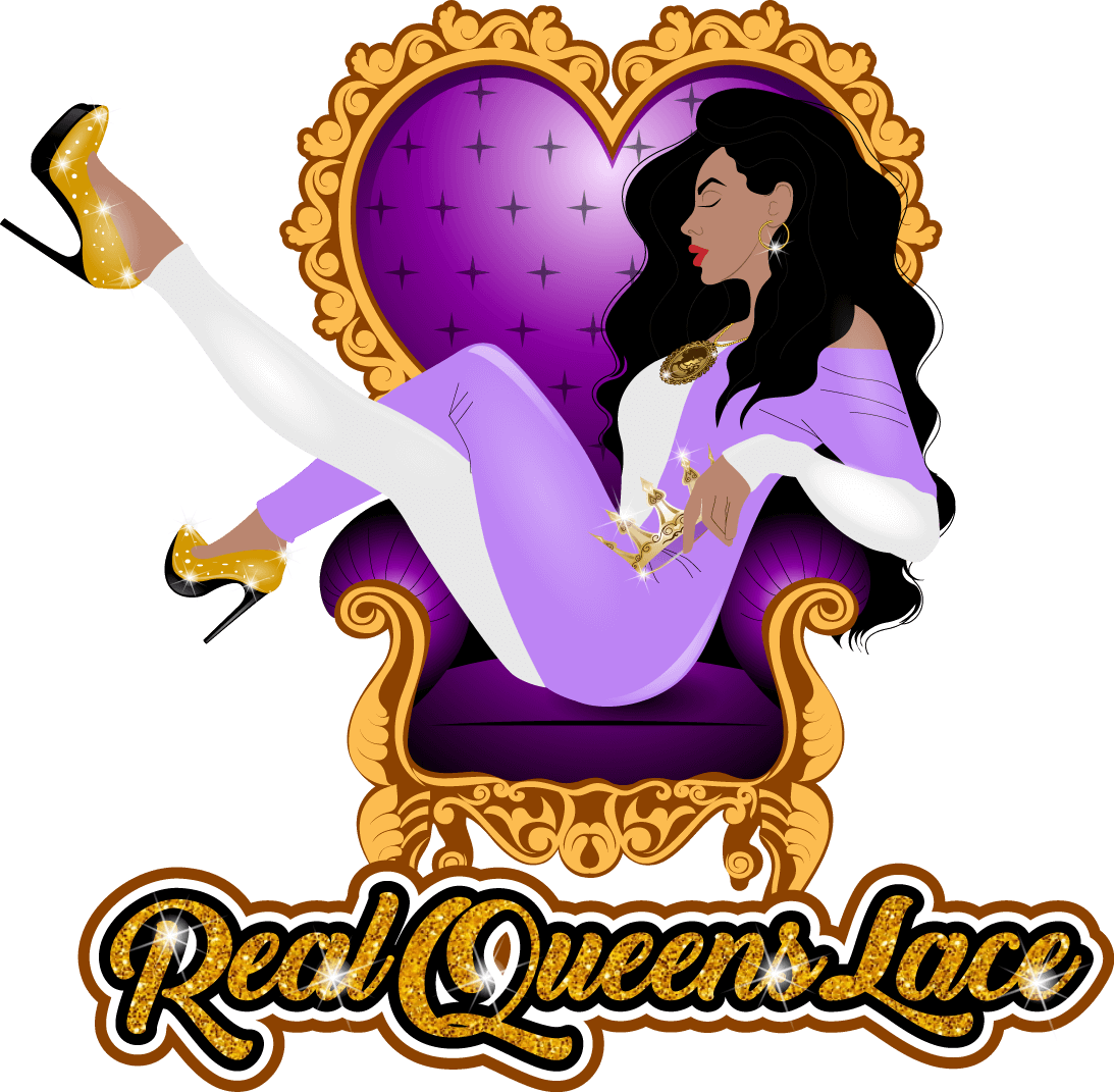 Logo Design for Real Queen Lace by Me Marketing Group